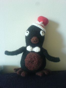 Crochet penguin with top-hat and bow-tie by ColliFlower86