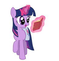 Twilight Sparkle Reading by blakperl