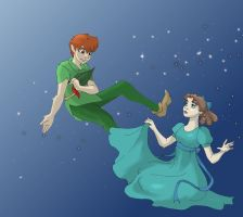 Peter and Wendy by UnfortunatePrince
