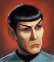 Portrait: Spock by Elusive-Angel