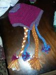Anna Frozen hat with pig-tails by Ahriannah