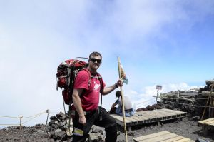 Me at Mt Fuji's summit by UltraSonicUSA