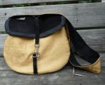 Gold and black Messenger by Eliea