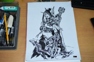 Sylvanas Windrunner sketch by abe70280