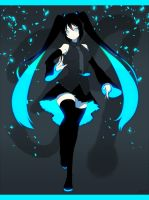 Miku in black by kohn-nz