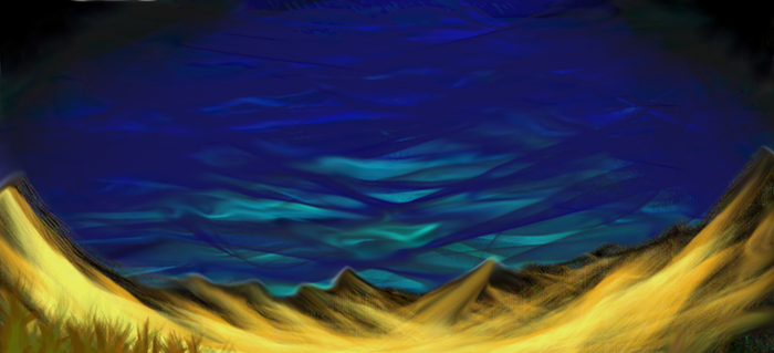 desert mountains and sky by paveron