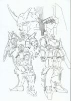 Megatron and Galvatron mixed style - L.N. tribute by RyugaSSJ3