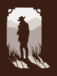 Old Western Silhouette by mollygrue