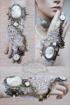 Wedding wrist ornament by Pinkabsinthe