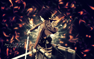 shingeki no kyojin-Mikasa wallpaper by suffocator