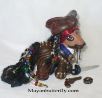 Captain Jack Sparrow Custom My Little Pony by mayanbutterfly