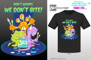 Cute Monsters Tshirt design reyjking1 by reyjdesigns