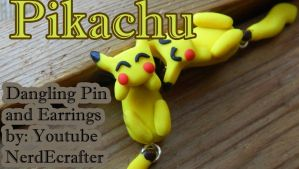 Pikachu Pin and Earrings (Tutorial) by NerdEcrafter