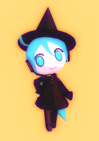 Chibi Witch Miku + Download by Aira-Melody