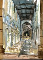 Rochester Cathedral interior by Smokeyglove