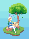 Adventure Time: Fionna and Cake (PIXEL) by jonhel1394