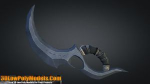 Dagger #4 3D Low Poly | 3DLowPolyModels.Com by 3dlowpolymodels