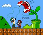 Plumbers Piranha Plant Problem by SamChat
