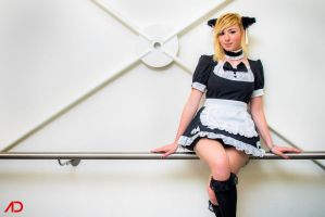Neko Maid: Sitting Kitty by KaylaErinOfficial
