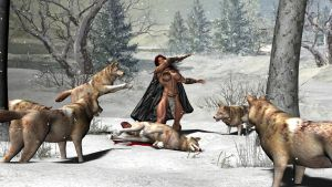 Red Sonja - Dancing with Wolves by plinius