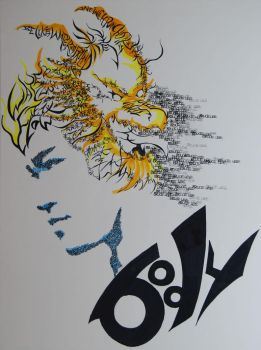 Bruce Lee Typographic Portrait by Ryuga-S
