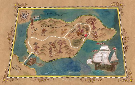 Map of Oak Island by mourri