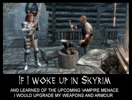 If I woke up in Skyrim 21 by Cinn-Ransome