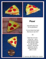 Mini Pizza Slice by airlobster