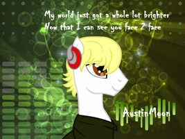 Austin Moon MLP (listening to Face 2 Face) by ponyhallo1
