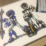 Blue and Black Mega-Rangers by AzizSupremeArt