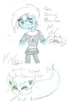 Gem Danny P and a Ghost cat by Kittychan2005