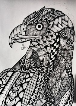 Zentangle Eagle by lukemac