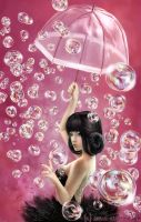 Bubble Girl by black-dicefish