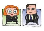 Mulder and Scully (X-Files) by stuartmcghee