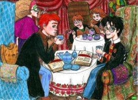 Teatime with Harry by KimmitheHealer