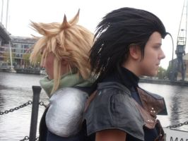Zack Fair and Cloud Strife Cosplay by redwolf18blue