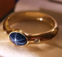 Star sapphire wedding ring 2 by Wolfie-83
