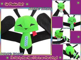 Invader Zim - Gir Plushie Hat by AnimeNomNoms