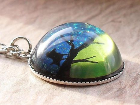 Bird on a branch necklace by janimie