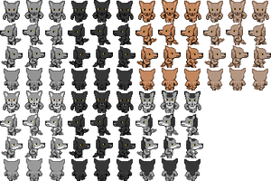 RPG Maker VX: Male werewolf sprites by Pencilartguy