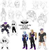 DBNA Daizenshuu - Frost's Elite Force concepts by MalikStudios