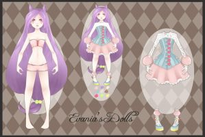 Adoptable Doll 2 - Evania's Dolls by whianem