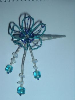 Flower hairpin by pinha-colada