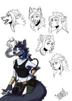 Afry Sketch Page by Inkfang