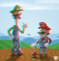 M and L Anaglyph by billythebrain