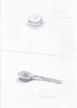 Spoon and candle by UrbanPython