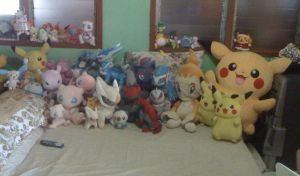 My Pokemon Plush Collection....... by davyjonesentei123