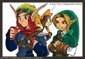 Jak+Link: Seperated at birth? by geN8hedgehog