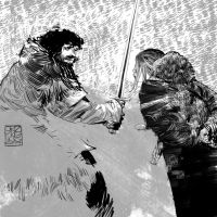 Jon Snow and Ygritte by cromagnus