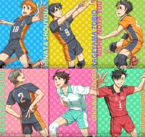 Haikyuu!! Postcards (part 1) by piku-chan